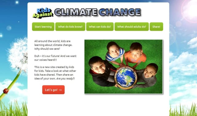 Fifth graders from Cottage Lane Elementary School created the website kidsagainstclimatechange.com as a space to discuss ideas on how to slow down climate change.