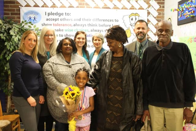 Kimora Jackson, pictured with family and teachers, was honored as a BOCES Student of Distinction at a recent Lakeland Board of Education Meeting on March 17.