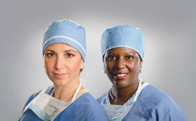 Breast surgeons Laura Klein and Tihesha Wilson of The Valley Hospital's Breast Center