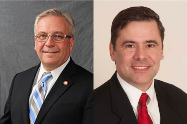 Bethel First Selectman candidates Matthew S. Knickerbocker and William I. Duff