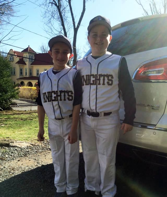 The Knights are looking for some more new players, as baseball season approaches. This is Timmy Rutigliano and Matthew Renaghan, last spring.