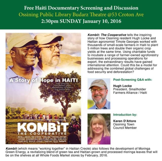 "The Ossining Public Library will screen the documentary ""Kombit: The Cooperative"" on Sunday at 2:30 p.m."