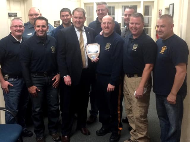 James Koth III with Oradell PBA Local 206 members