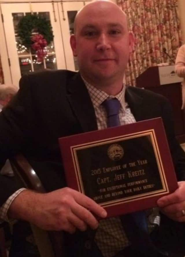 Ridgefield Police Capt. Jeff Kreitz was named the Ridgefield Town Employee of the Year.