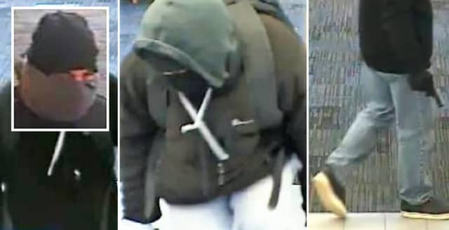 Surveillance photos from the Little Falls bank robbery.