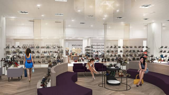 A rendering of Lord & Taylor's new ladies' shoe department in Stamford.