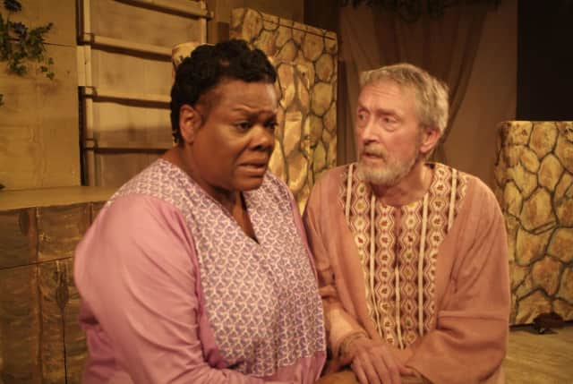 """A performance of """"Lot's Wife,"""" a play by Hastings-on-Hudson resident Albi Gorn, is being put on by The Westchester Collaborative Theater. The WCT is giving several tours of its new performance space in Ossining."""