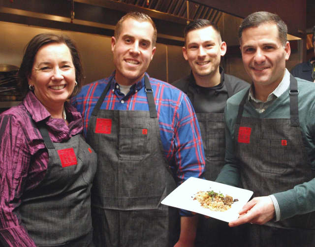 From left to right: Janet Crawshaw, Colin McGrath, Michael Polasek and Marcus Molinaro