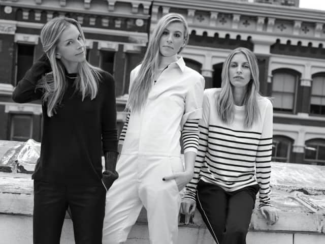 Meredith Melling, from left, Molly Howard and Valerie Macaulay, founders of La Ligne. Photographs courtesy La Ligne.