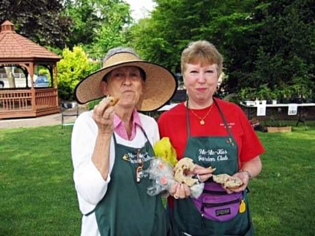 Ladies with the Ho-Ho-Kus Garden Club sample the goods at a prior plant and bake sale.