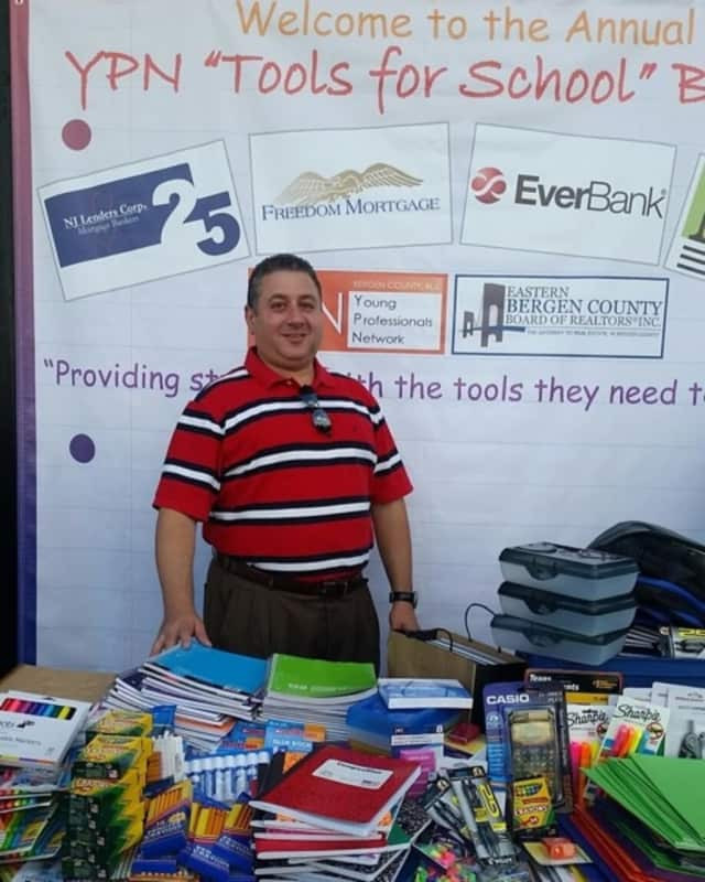 Lance Maiden at a recent school supply drive
