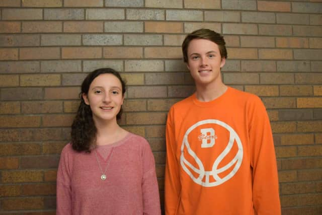 High school student Lauren Tannenbaum, left, was chosen to represent Briarcliff at a conference of young leaders in June. Classmate Jack Ryan was chosen as the alternate in the Hugh O'Brien Youth Leadership program.