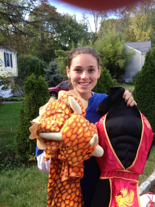 Rye resident Lauren Frances Dempsey collects Halloween costumes for children in need.