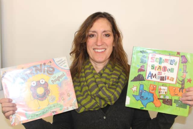 Author and illustrator Laurie Keller visited students at Meadow Pond Elementary School.