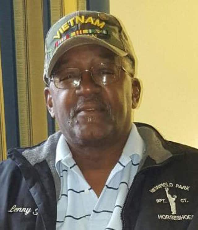 Darien VFW Commander Leonard Hunter was hit by a car while serving as a school crossing guard in Bridgeport this week