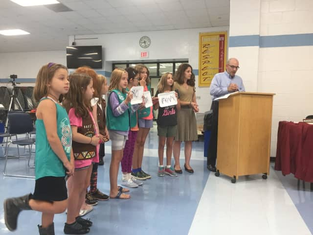 Leonia Girl Scouts are joining the Alliance to urge store-owners and residents to curb their use of Styrofoam.