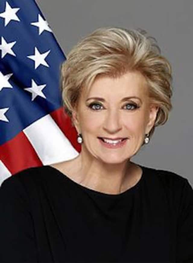 Linda McMahon will speak at the Darien Chamber of Commerce on Oct. 20.