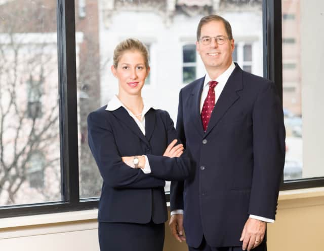 Lindsey Goldstein, left, and her father, Paul, run a personal injury law practice in Poughkeepsie. The younger Goldstein says she knew she would pursue a career in the law even when she was little.