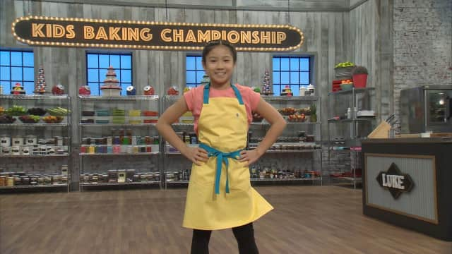 "Closter Baker Linsey Lam appears on The Food Network's ""Kids Baking Championship."""