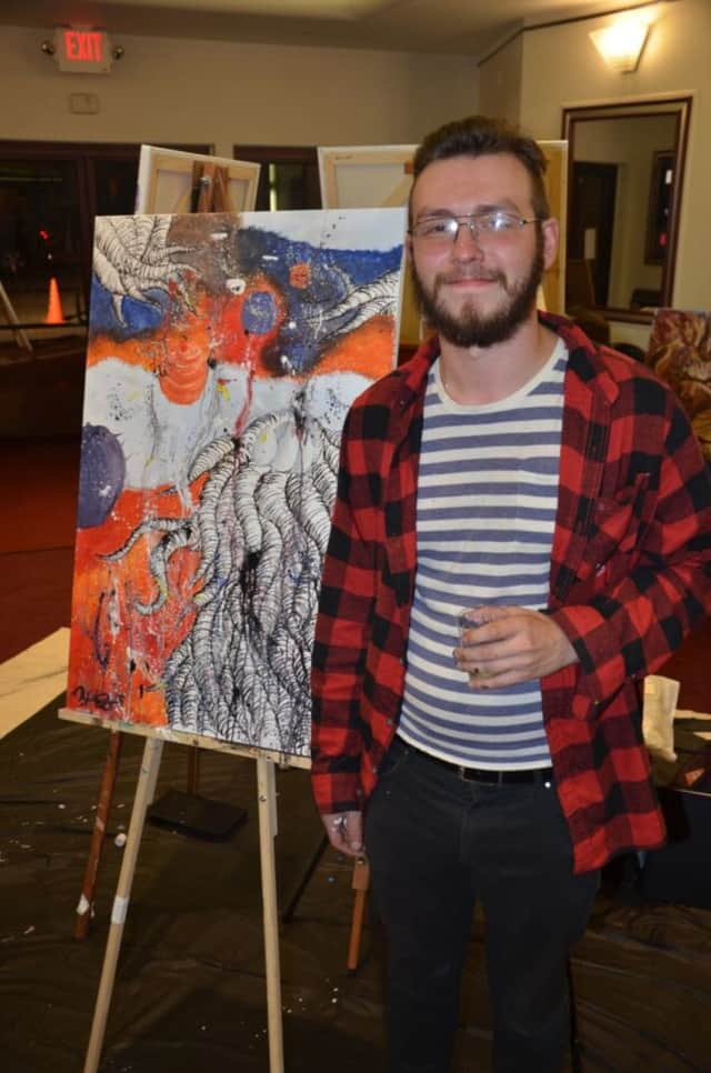 Robert Gratson, shown here, received an award from ArtsBergen -- which is putting on an outdoor exhibit on June 4.