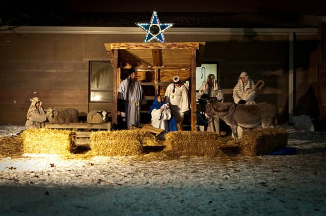 The annual Bronxville Christmas Pageant scheduled for Christmas Eve features a Nativity scene with live animals.