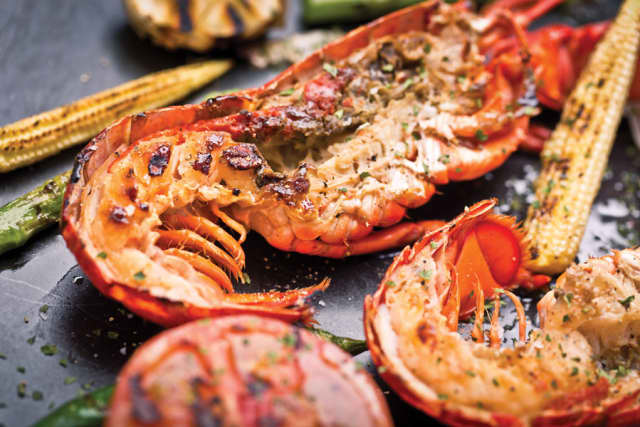 Grilled lobsters with summer Béarnaise sauce. Images courtesy Susan Lawrence Gourmet Foods.