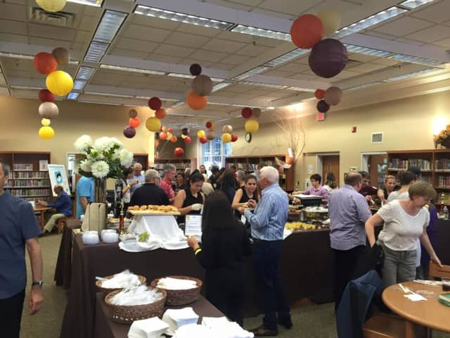 Locals sample a wide variety of food and beverage at the 2015 Taste of Westwood.
