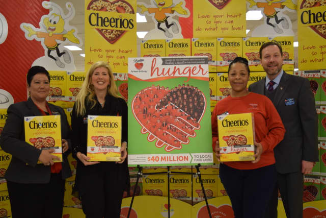Sandra Puglielle and Shatai Dungie of the Croton-on-Hudson ShopRite will be featured in a limited edition box of Cheerios.