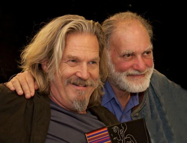 Jeff Bridges and Roshi Bernie Glassman. Photograph by Bob Rozycki.