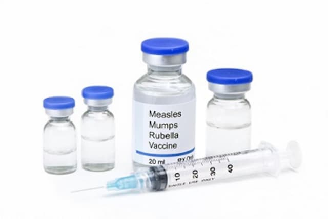 The measles vaccine.