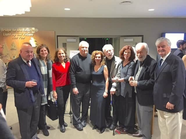 From left, Denny Jacobson, Eileen Lehrer, Francie Camper, Robert Mencher, Regina Schwarz, David Eger, Jane Eger, Martin Mintz and Robin Elliott shown at a Nov. 22 fundraiser for Parkinson's Disease Foundation.