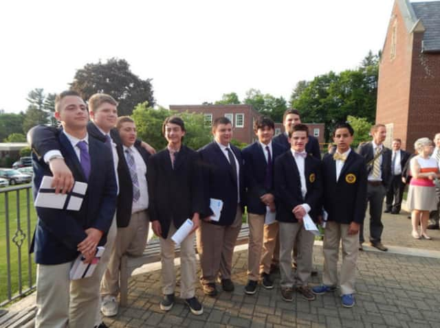 """The Trinity-Pawling School held a """"Stepping Up"""" ceremony Thursday, June 2, for middle school students entering freshman year in September."""