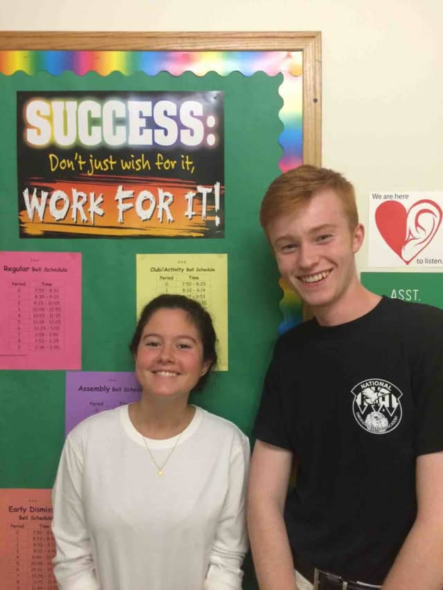 Irvington High School seniors Madison Carelli and Connor Winton are among nine Westchester County students to receive the 2015 Milly Kibrick Youth Service Award.
