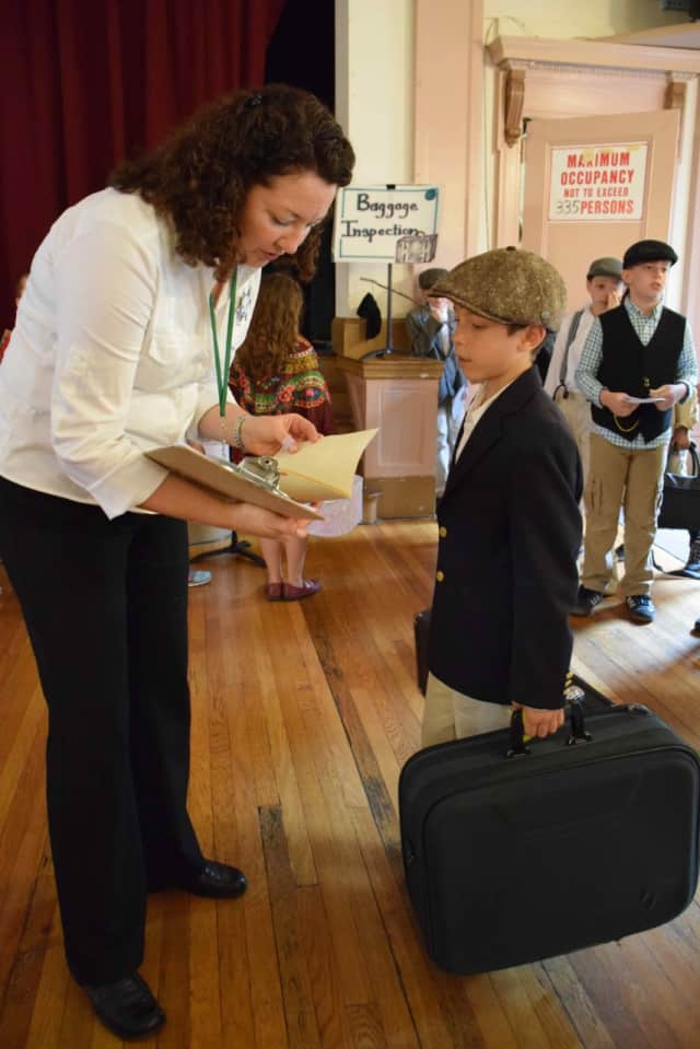 Fourth-graders at Main Street School role-played as European immigrants during the school's annual Immigration Day on June 3.