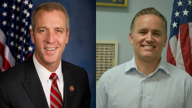Democratic incumbent Sean Patrick Maloney (left) faces off against Republican challenger Phil Oliva (right) for the 18th Congressional District.