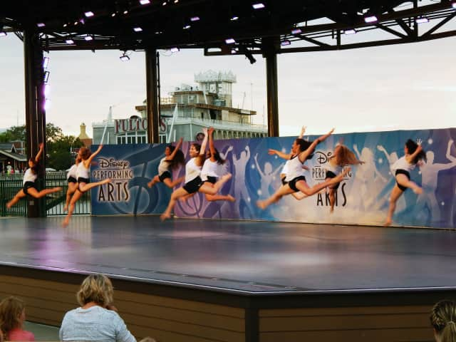 Manhattanville Dance Troupe college students performed last month at Disney World in Orlando.