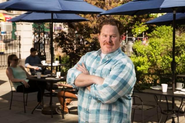 "Clark Webb, host of ""Man v. Food"" on Travel Channel."