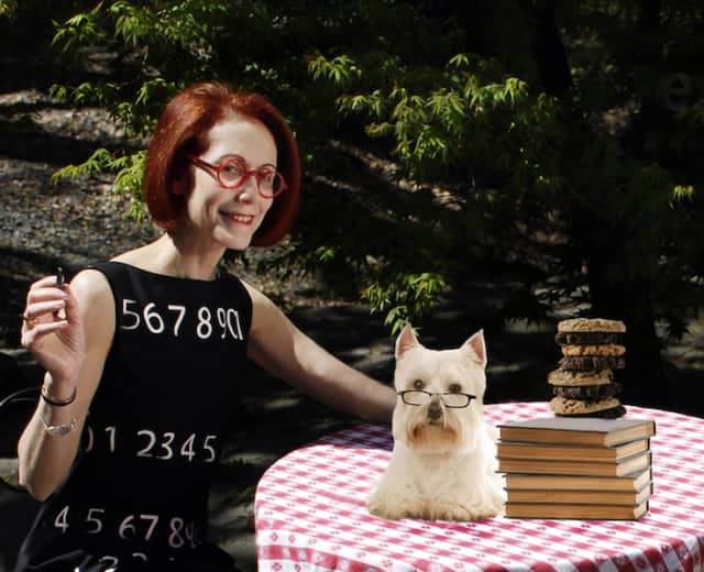 """Performance artist Marcy B. Freedman will make her Katonah Art Stroll debut with """"If you love dogs or cookies…"""" Photograph by Howard Goodman. Courtesy Marcy B. Freedman."""