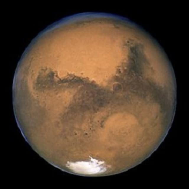 Mars and Earth will be getting cozy for the next few weeks. The Red Planet will be about 48 million miles away, the closest in 11 years. Mars is usually an average 140 miles away and, at its farthest, it's 250 million miles distant.