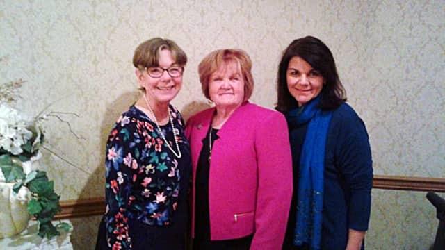 (from left) Brookside Elementary School nurse Mary Ellen Bolton, NJSSNA Executive Director Judith Woop and Berkeley Elementary School nurse Susannah Petersen