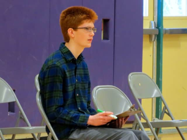 Jay Middle School student Matthew Collins won the schoolwide Geographic Bee and has qualified to compete in the state level of the National Geographic Bee on April 1.