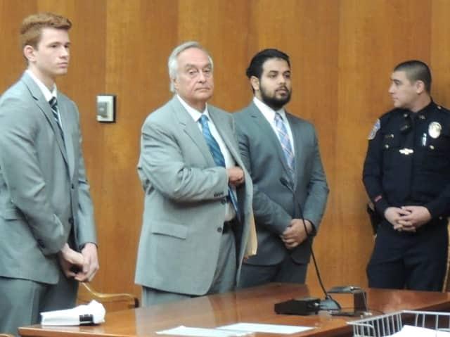 Matthew Hazuda, defense attorney Robert Biagiotti, Rahul Mathew