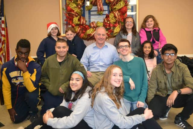 Saddle Brook Mayor's Youth Group celebrates the holidays.