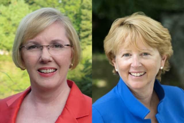 Wilton First Selectman candidates Deborah McFadden and Lynne Vanderslice