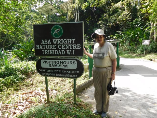 Rye Brook's Carol McMillan at Asa Wright Nature Center in the mountains of Trinidad.