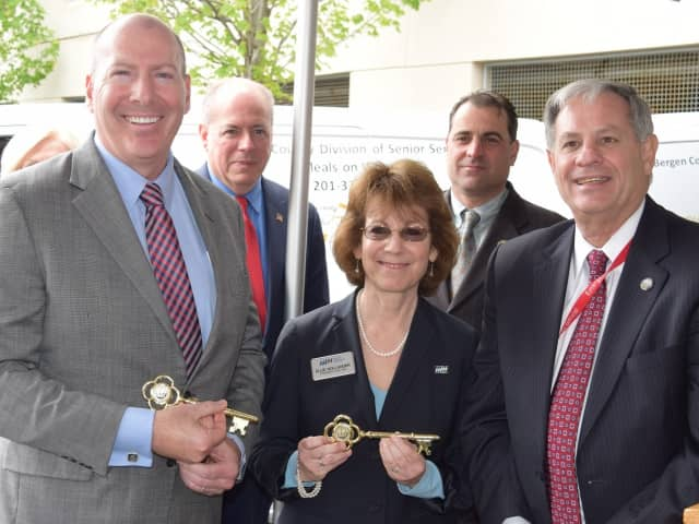 Attendees included Ellie Hollander, president and CEO of Meals on Wheels America, and Bergen County Executive Jim Tedesco (right)