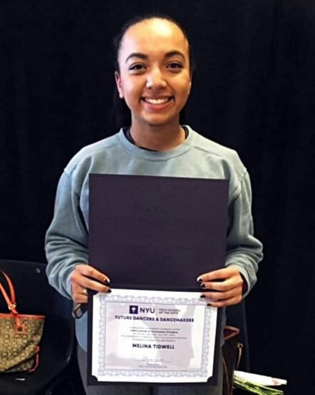 Academy of the Holy Angels' Melina Tidwell completed NYU's Future Dancers Program.