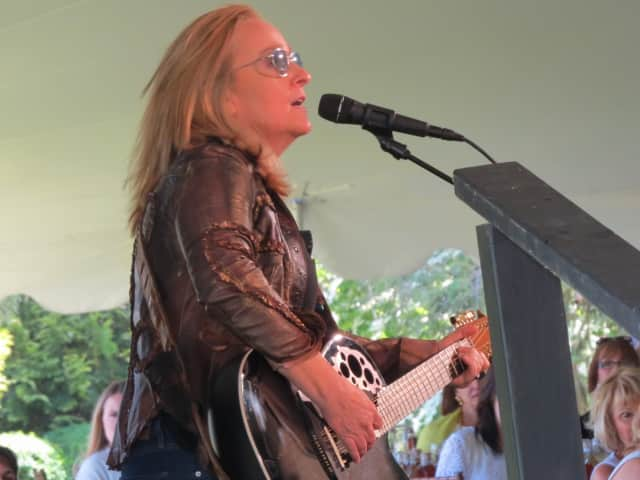 Singer Melissa Etheridge recounted her personal breast cancer journey and performed June 14 at the Rose of Hope Luncheon to benefit the Norma Pfriem Breast Center in Bridgeport.