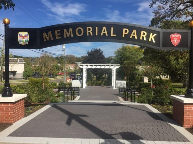 Danbury will dedicate Memorial Park in honor of police officers and firefighters who gave their lives in the line of duty.