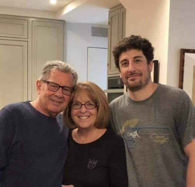 Hasbrouck Heights native Jason Biggs and his parents, Angela and Gary Biggs.